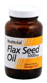 Health Aid Aceite De Linaza 1,000 Mg 60 Vcaps