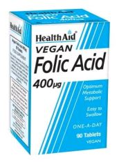 Health Aid Acido Folico 400 Mcg 90 Comp