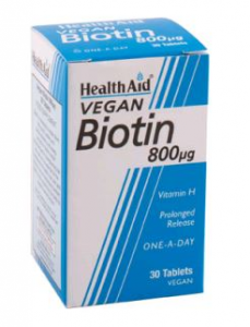 Health Aid Biotina 800 Mg 30 Comp