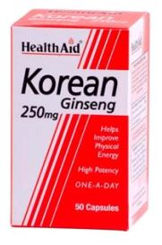 Health Aid Ginseng Coreano 250 Mg 50 Caps