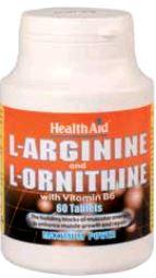 Health Aid L-Arginina-L-Ornitina 600 Mg-300 Mg 60 Comp