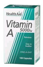 Health Aid Vitamina A 5,000 Ui 100 Caps