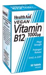 Health Aid Vitamina B12 1,000 Mg 50 Comp