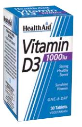 Health Aid Vitamina D3 1,000 Ui 30 Comp