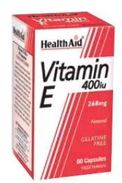 Health Aid Vitamina e Natural 400 Ui 60 Vcaps