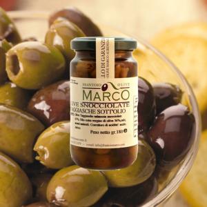 Olive snocciolate sott'olio 180 g