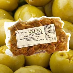 Olive schiacciatelle in busta 250 g