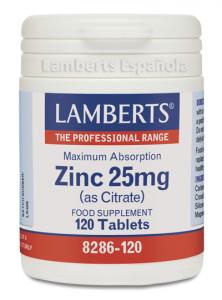 Lamberts Citrato De Zinc 25 Mg 120 Caps
