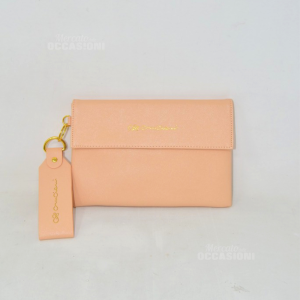 Clutch Bag Canciani Faux Leather 24x16 Color Meat