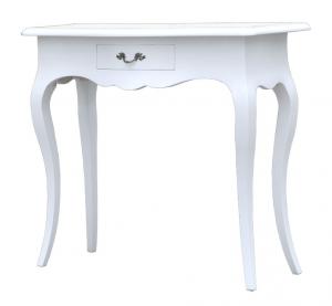 PROMO ! Table console d'entrée blanche avec tiroir