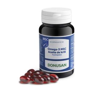 Bonusan Omega-3 Msc Aceite De Krill 60 Cap De Gelatina