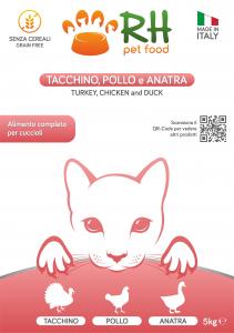Tacchino, pollo e anatra Puppy Grain Free