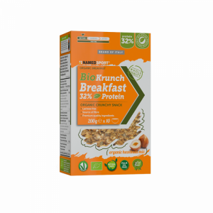 NAMEDSPORT BIOKRUNCH BREAKFAST 32% PROTEIN ORGANIC HAZELNUTS MIX – 200G