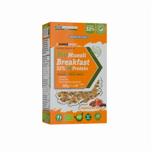 NAMEDSPORT BIOMUESLI BREAKFAST 32% PROTEIN ORGANIC FRUIT MIX – 200G