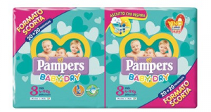 PAMPERS BABY DRY DUO MIDI TG.3 (X40) 2020 2730054 FATER