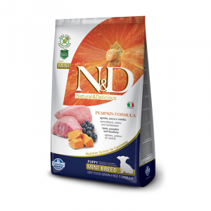 FARMINA N&D PUMPKIN PUPPY MINI ZUCCA, AGNELLO E MIRTILLO GRAIN FREE