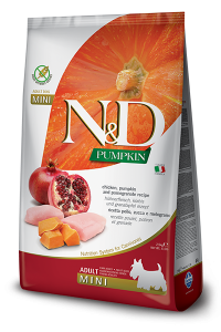 FARMINA N&D PUMPKIN ADULT MINI ZUCCA, POLLO E MELOGRANO GRAIN FREE