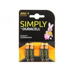 Duracell Simply Alkaline Batteries AAA LR06 / MN2400 4 Units
