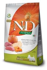 FARMINA N&D PUMPKIN ADULT MINI ZUCCA, CINGHIALE E MELA GRAIN FREE