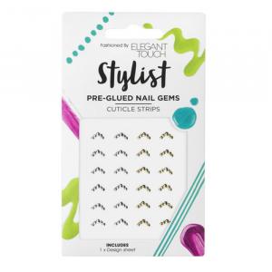 Elegant Touch Stylist Pre-Glued Nail Gems Cuticle Strips