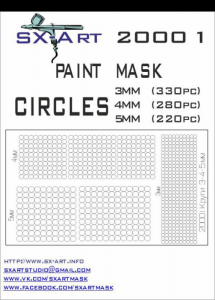 Mask Circles 3mm (330x), 4mm (280x), 5mm (220x)