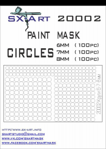 Mask Circles 6mm (100x), 7mm (100x), 8mm (100x)