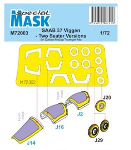Mask for SAAB 37 Viggen Two Seater