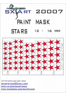 Mask Stars 12 - 16mm