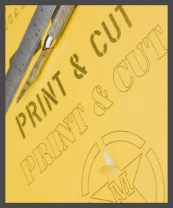 Print & Cut – A4 – Yellow Kabuki sheet
