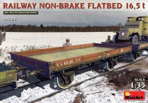 RAILWAY NON-BRAKE FLATBED 16,5 t