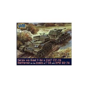 TRACTOR ON T-34 W / SU-76