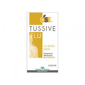 GSE Tussive Flu in stick pack - 12 stick pack monodose da 10 ml