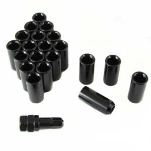 Set of BLACK LONG imbus lug nuts 12x1,25 + Key