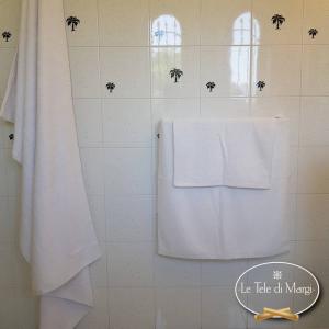 Asciugamani tinta Unita Bianco