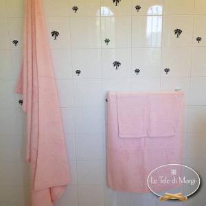 Asciugamani tinta Unita Rosa