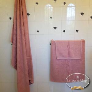 Asciugamani tinta Unita Cipria