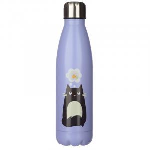Bottiglia Termica Acciaio 500 ml - Gatto Nero Feline Fine (Bot84)