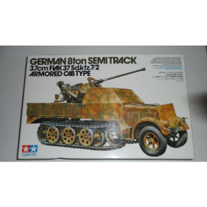 GERMAN 8TON SEMITRACK 3.7CM FLAK 37 SD.KFZ.7/2 ARMORED CAB TYPE TAMIYA