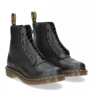 Dr. Martens Anfibi donna 1460 pascal front zip black nappa