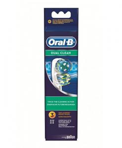ORAL-B DUAL CLEAN-  3 TESTINE DI RICAMBIO