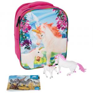 Zaino Scuola Set da gioco 3D Unicorno Animal Planet