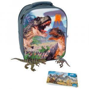 Zaino Scuola Set da gioco 3D Dinosauri Animal Planet