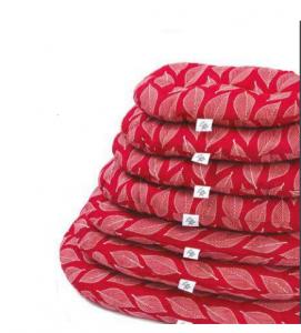 CUSCINO NETTUNO Rosso Foglia per cani  Leopet varie misure