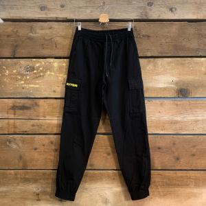 Pantalone Uomo Iuter Jogger Cargo Con Tasconi Nero