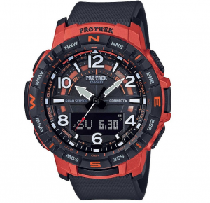 Casio PRO TREK, Bluetooth®, nero e arancione