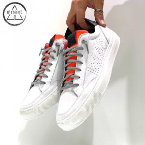 P448 - Soho - Bianco e arancio fluo