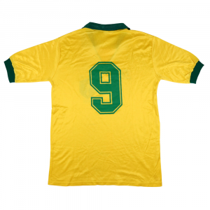 1990-91 Brasile Maglia Match Worn #9 Careca L (Top) Autografata