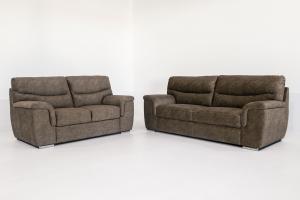 PROMO REDD - Coppia divani in tessuto tecnico 2 posti + 3 posti