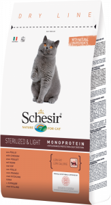 SCHESIR CAT STERILIZED & LIGHT POLLO 1,5 KG