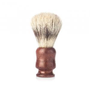 Vielong J&M Natural Bristle Shaving Brush 21mm Mahogany Beech